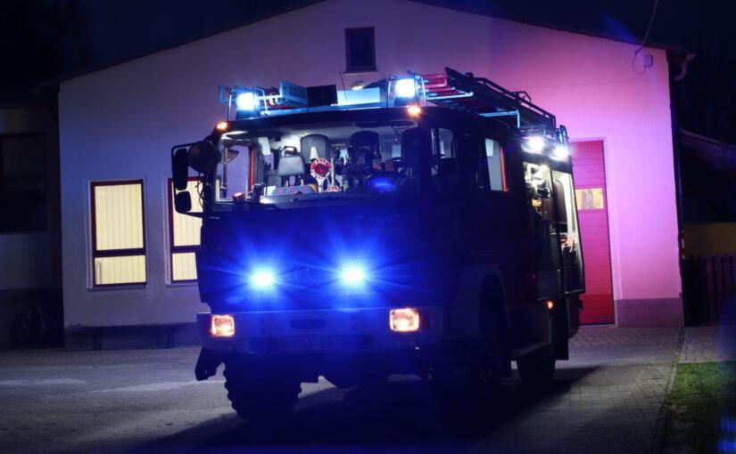 Neues Blaulicht am Löschfahrzeug